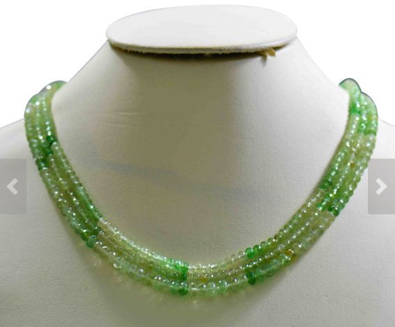Round Faceted Tsavorite Beads Strand