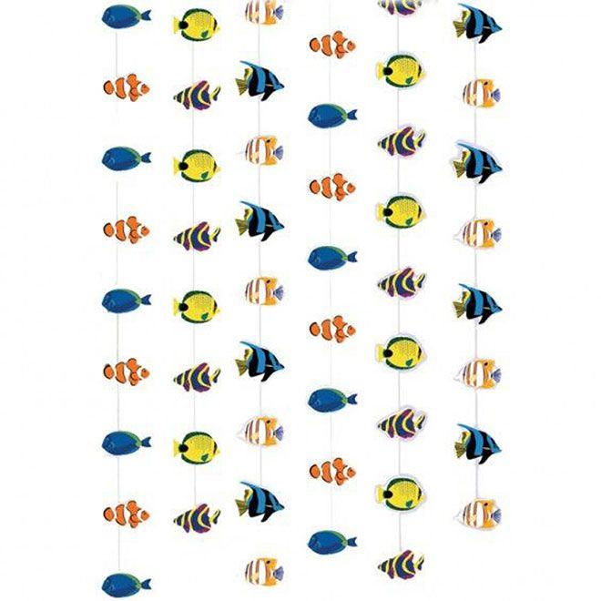 6 Dekorationsketten 'Tropische Fische'