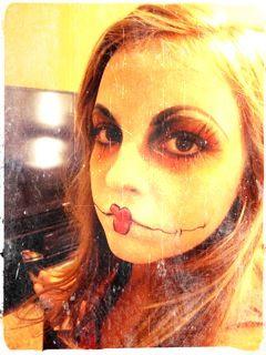 Halloween doll makeup by Chelsea Gottas.