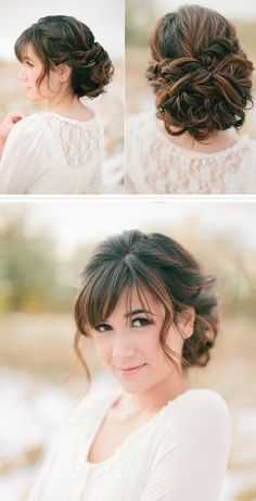 Reminds me of Jane Austen... I love my short hair, but if I ever go back to long hair, totally doing this. :):)   LOVE this do!!
