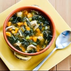 Healthy Aperture - Slow Cooker Turkey Soup with Kale