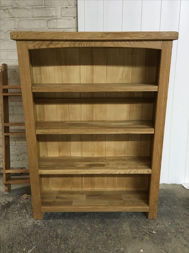 Oak Bookcase With Adjustable Shelves. Www.cobwebsfurniture.co.uk