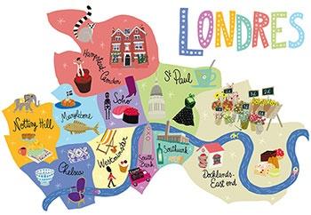 London Map by Penelope Bagieu