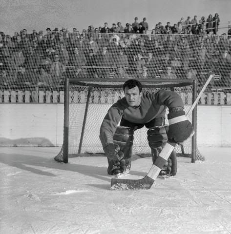 Denis Brodeur backstopped Team Canada to a bronze medal at the 1956 Olympics in Cortina D'Ampezzo, Italy. Canada went 3-0 in Group A round-robin play, ...
