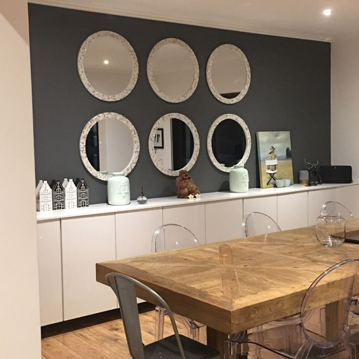 My Modern Home A great view of my garden through the dining room from my front door. #mydiningroom A loving space for friends, family and entertaining. #modern #white #gray #justlovedesign #diningroom #art