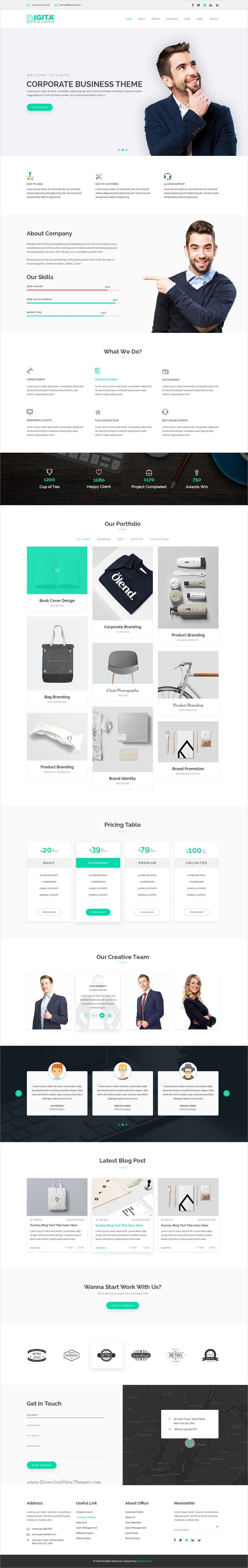 WorkPro - Creative Business Landing Page Template