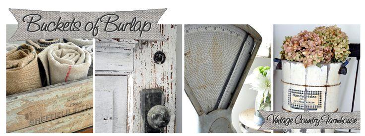Buckets of BurlapBurlap Blogspot Com, Bucketsofburlap Bogspot Com, Beautiful White, Burlap Decor