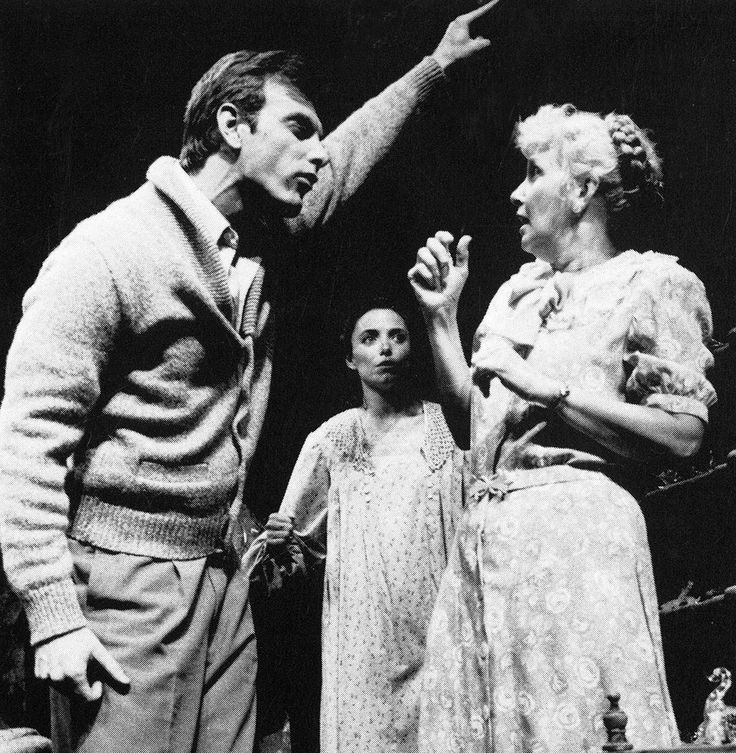 Joanne Woodward, John Sayles and Karen Allen, The Glass Menagerie, Williamstown Theatre Festival 1984