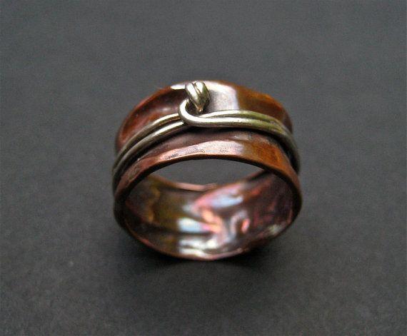 OOAK Copper Spinner Ring