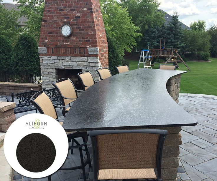 Creat a sense of opulence in your outdoor space, with granite smooth table tops… #OutdoorFurniture #TopTables