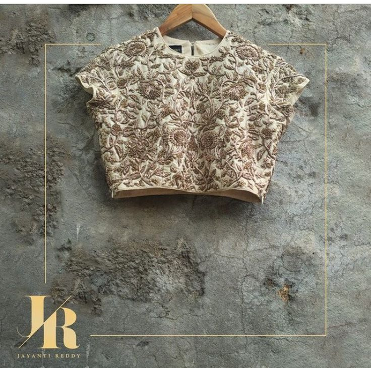 Jayanti reddy # hand crafted blouse # fashion #