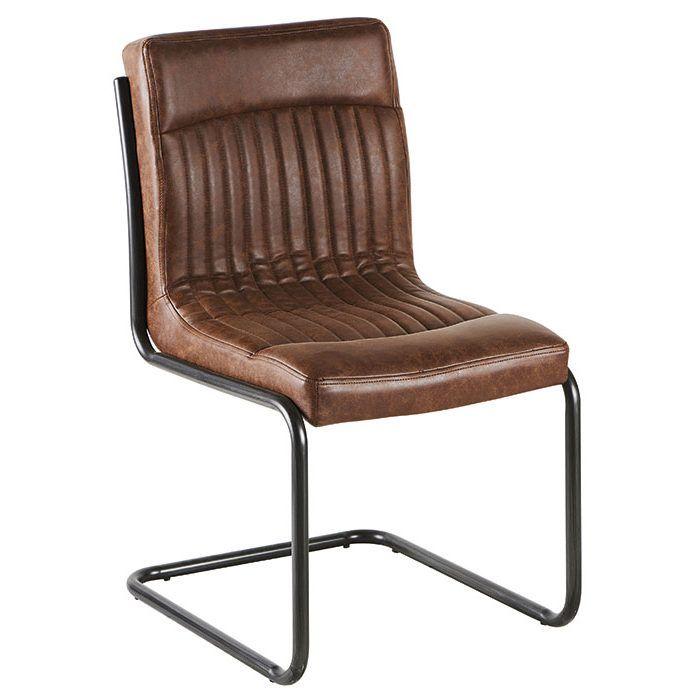 Chaise vintage marron havane rayé - Infos et Dimensions Largeur   64 cm -  Profondeur   f8ffcbc6c84