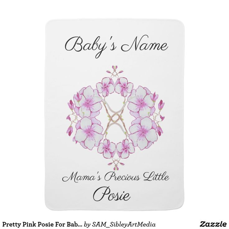 Pretty Pink Posie For Baby Girl