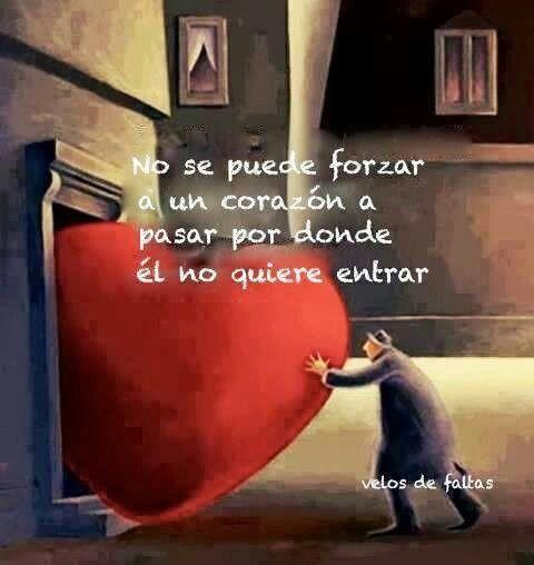 Es muy cierto el amor es algo natural si lo fuerzas pierde la magia!