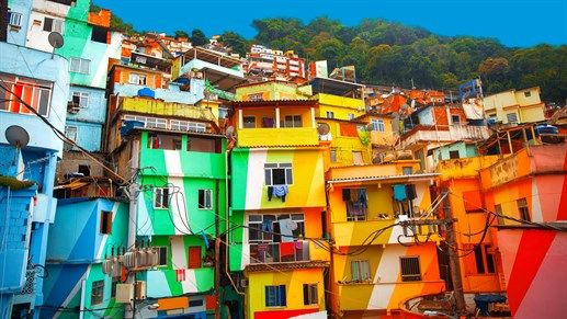 Colorful buildings in Rio's faveal #travel #urban #kilroy #explore #colorful
