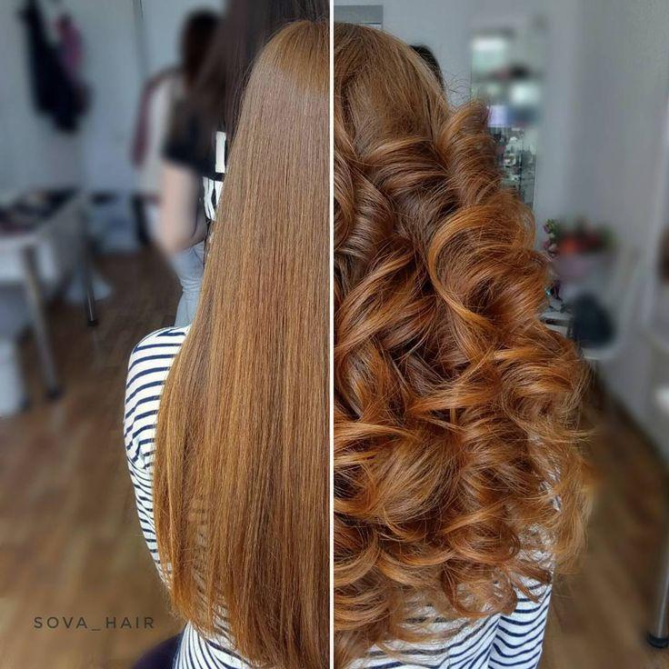 51 отметок «Нравится», 2 комментариев — Marina Sova (@sova_hair) в Instagram: «Кудряшки до и после. Curls.  Before and after.  ______________________ Hair @sova_hair  #фото…»