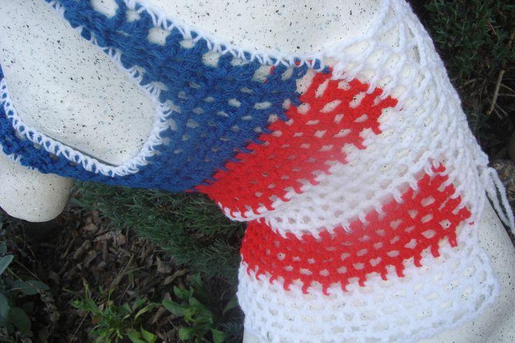 Top, débardeur en style résille, drapeau américain USA country : T-Shirt…