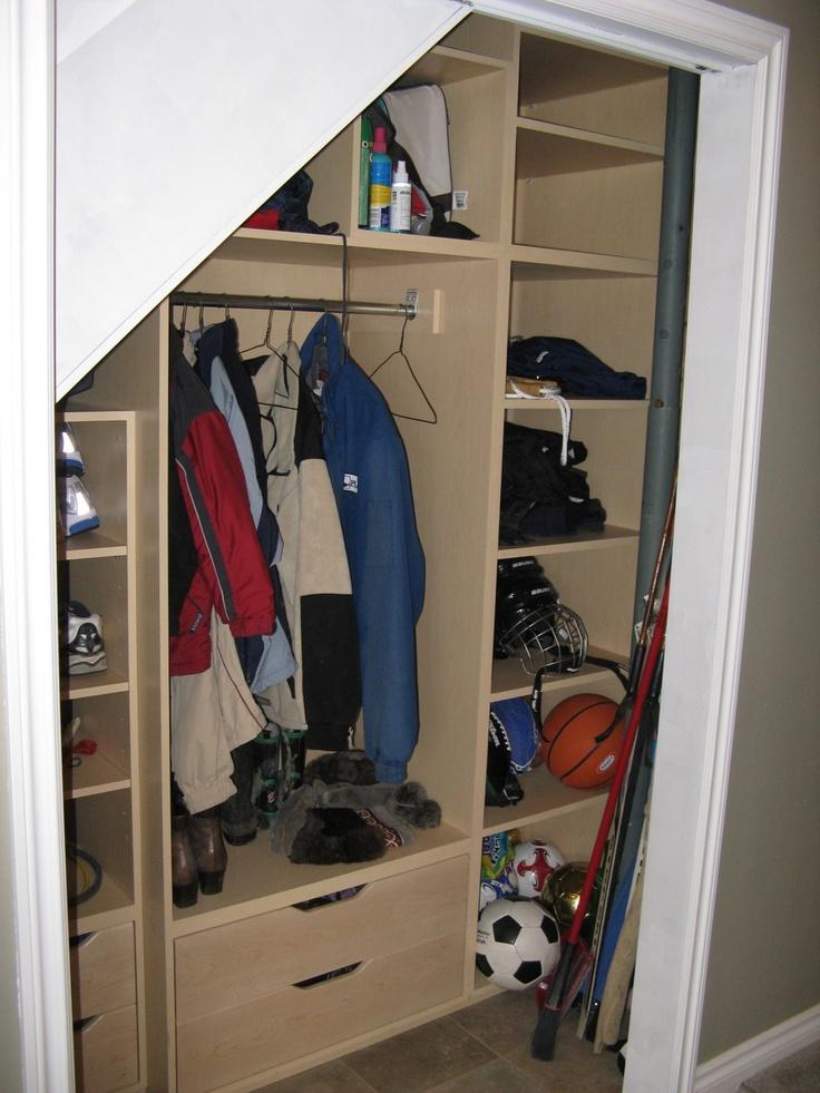 Custom under-stairs storage