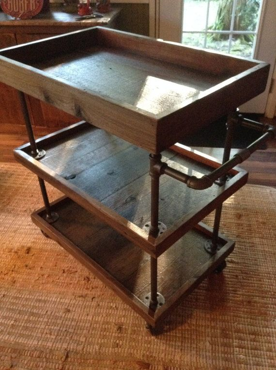 25  best ideas about rustic utility carts on pinterest