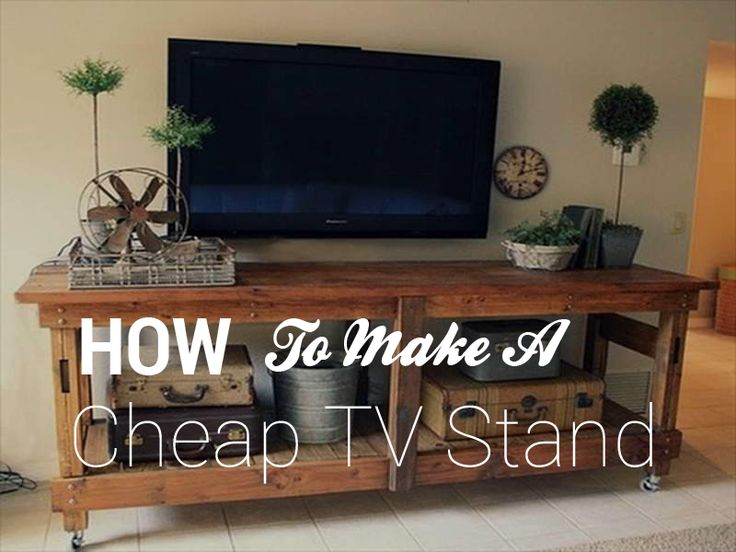 if you are looking how to make a cheap tv stand in a very inexpensive project that you think of. Black Bedroom Furniture Sets. Home Design Ideas