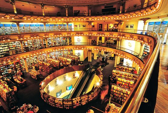 2. Libereria El Ateneo Grand Splendid, Buenos Aires, Argentina    If you are in Argentina and need to find a bookshop, then this is the one that will tempt you in just to stare at the décor of the place. …