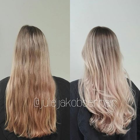 40g 7/1+ 20g 9/16+1,9% and balayaged the lengths with wella Freeligths 12% for 50 minutes, no heat. Toned it with 10/81+9/16+1,9%+1/8 @olaplexnorge :-) #wellalife #wella #wellahair #wellaeducation #wellacolor #mastercolorexpert #oribe