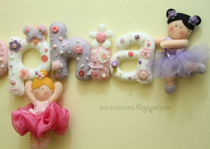 Beautiful felt figures and letters