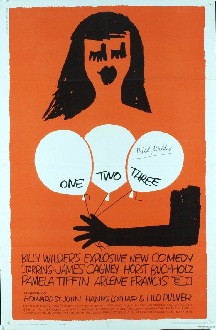 Saul Bass - One Two Three Poster Design