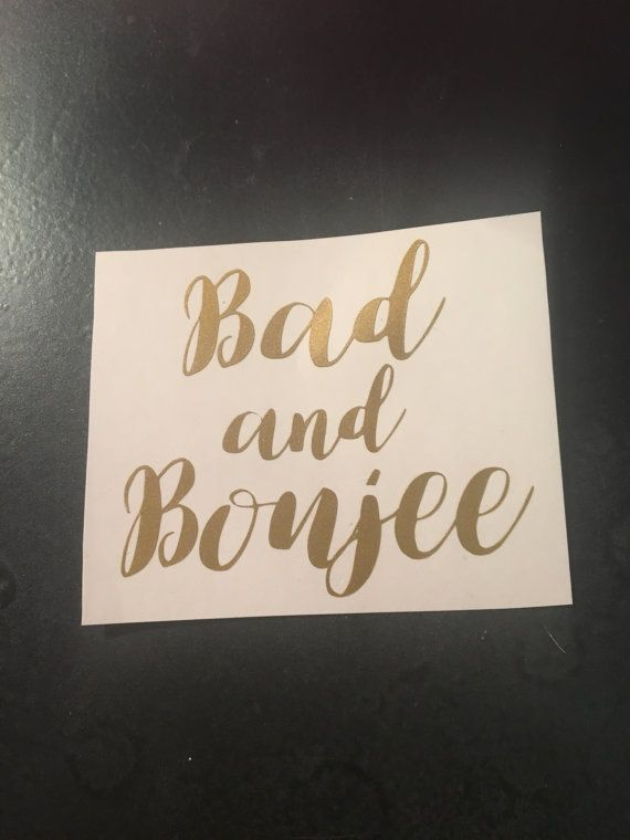 Bad and Boujee decal perfect for wine glasses by VinylbyKaleigh