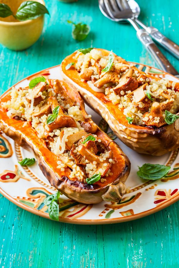 Twice Baked and Stuffed Butternut Squash:
