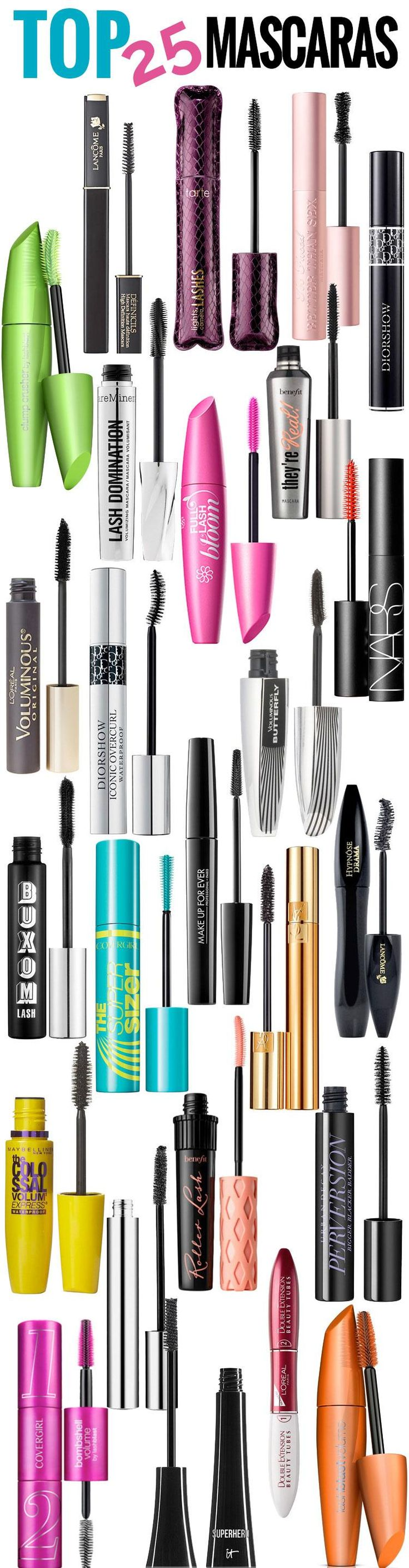 Luckily for you in all my years as a Hair stylist and Makeup artists I have tried all kinds of Mascara and and made a list of top 25 drugstore mascaras unde