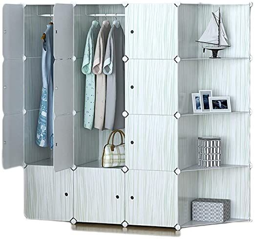Tangmengyun Indoor Convenient Wardrobe Storage Cabinet Plastic Storage Cabinet Bedroom Space Savin In 2020 Modular Wardrobes Plastic Storage Cabinets Foldable Wardrobe