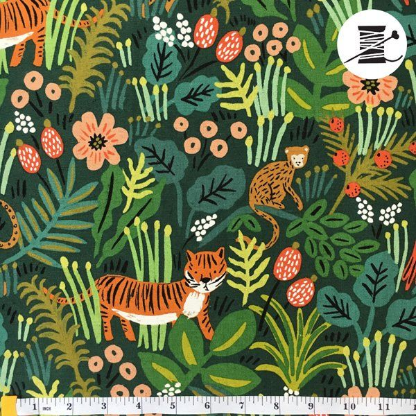 Rifle Paper Co. Menagerie Jungle Hunter Canvas $20.25/yard Pre-Order http://www.crafthouselincoln.com/shop/PRESALE/p/Jungle-Hunter-Canvas-x26950718.htm  Rifle Paper Co Fabrics, Menagerie by Rifle Paper Company, Anna Rifle Bond, whimsical fabric, fun canvas fabric, jungle hunter canvas fabric, children's fabric, textile inspiration, fun textiles, colorful fabrics crafthouse Lincoln #mycrafthouse