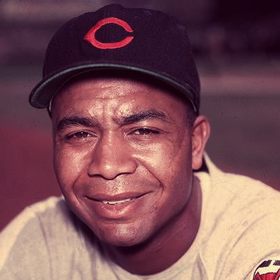 Larry Doby was born December 13, 1923 in Camden, South Carolina. He played for the Newark Eagles of the Negro National League in 1942 and 1943 before enlisting in the U.S. Navy. He returned to the Newark Eagles for the 1946 and 1947 seasons until Bill Veeck signed him to play with the Cleveland Indians at the end of the 1947 season. He was also on the Chicago White Sox and the Detroit Tigers.