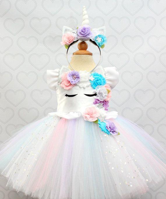 Unicorn Dress Unicorn Tutu Dress Unicorn Birthday Dress