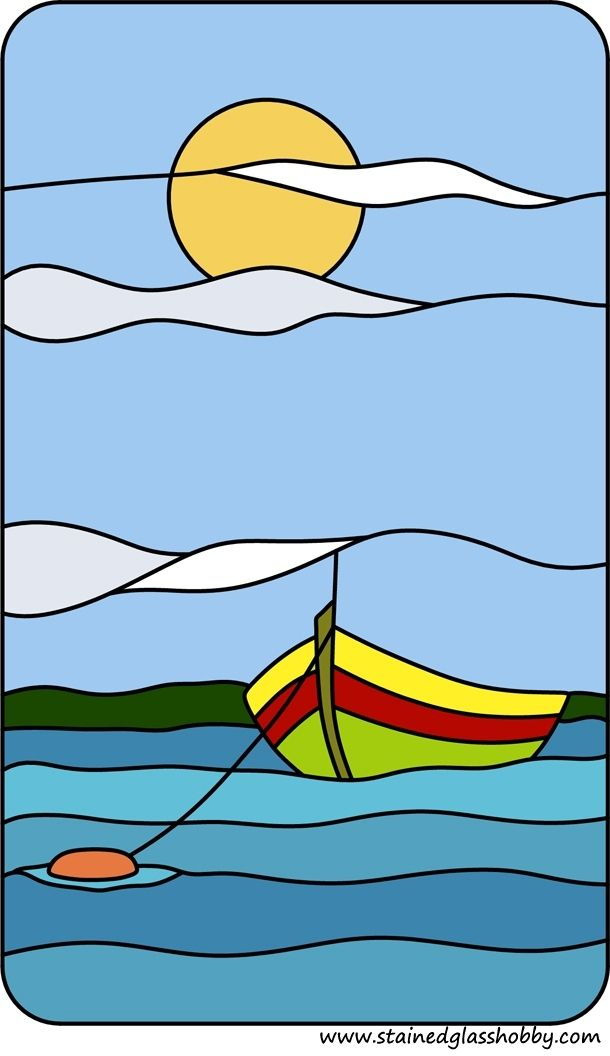 Stained glass sea