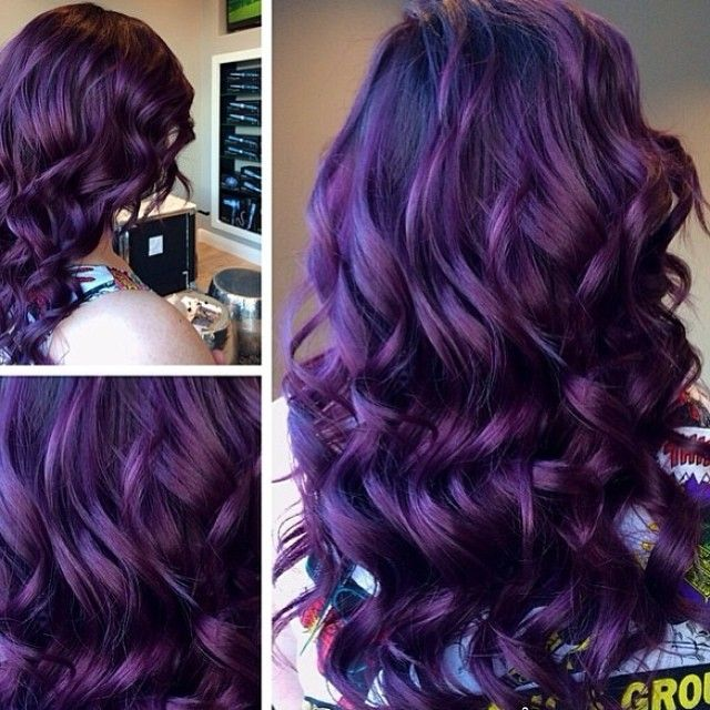 i want purple hair so bad                                                       …
