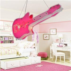 LED Pendelleuchte Kinderzimmer Pink Violine 2-flammig