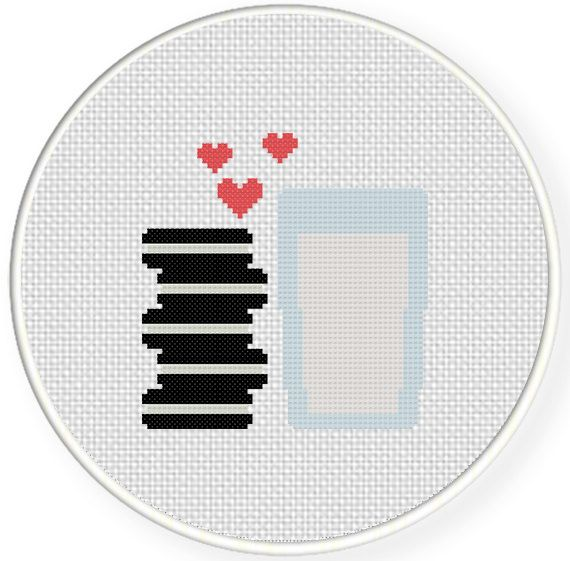 FREE for Dec 26th 2015 Only - Milk And Cookies Cross Stitch Pattern