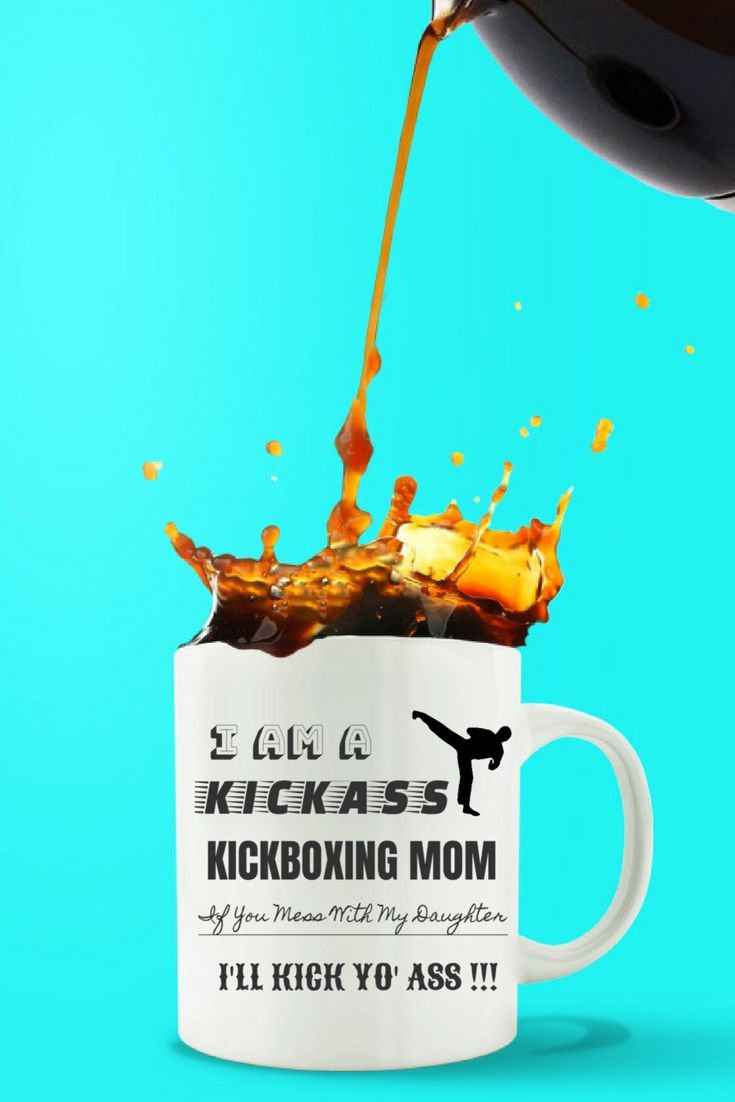 Great Gift for Kickboxing MOM from Daughter coffee mug! (Also available from SON or HUSBAND.) Check it out!