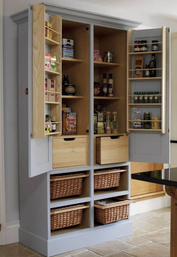 Simple  Beautiful And Functional Free Standing Kitchen Larder Units That Make Your Cooking Simple Interior Freistehende K chenschr nkeK che Speisekammer