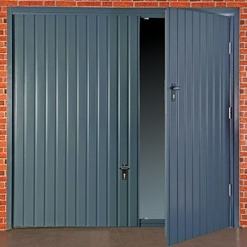 Fort Smartpass Up and Over Wicket garage door in Anthracite Grey