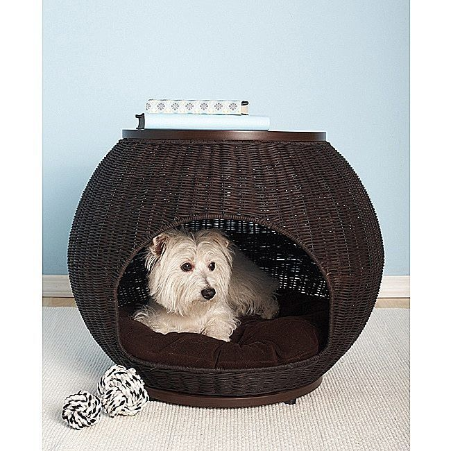 Animals Dog: Pet Dog Igloo Bed Cat House Puppy Warm Pad Mat Beds Hand-Woven Deluxe BUY IT NOW ONLY: $160.3