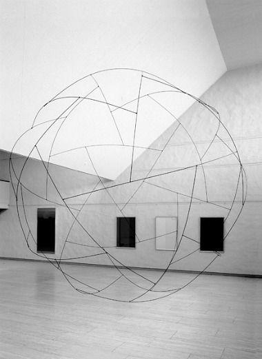Lars Englund, Sphere, 2002Art Sculpture, Lights Fixtures, Lars Englund, Sculpture With Circles, Sphere 2002, Art Installations, Coolest Artists, Geometric Installations, Crop Circles