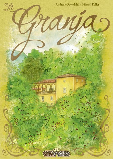 "In La Granja, players control small farms by the Alpich pond near the village of Esporles on the island of Mallorca. Over time, the players develop their farms and deliver goods to the village. Players are vying to earn the title of ""La Granja"" for their country estate! Over the course of 6 game rounds, players will expand their farm by adding fields, farm extensions, market barrows, and helpers. They will earn VPs by delivering goods to the village of Esporles. It is imp..."