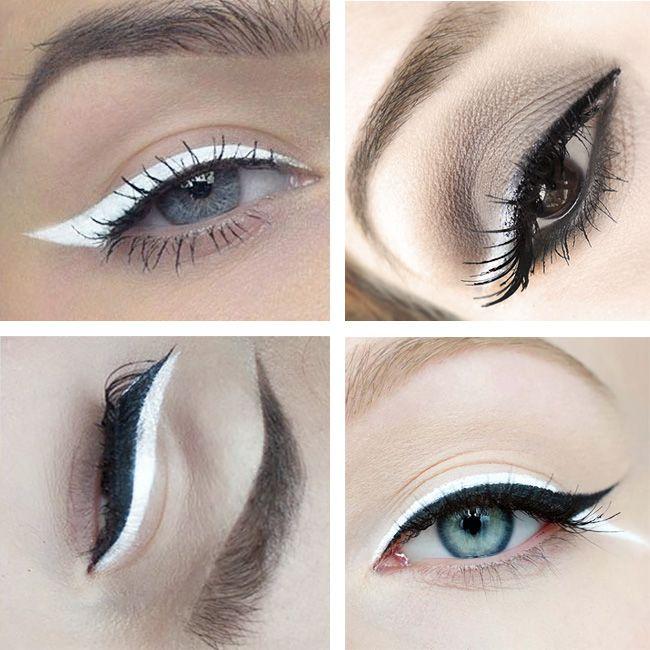 Vai um delineado branquinho aí? Como usar, dicas e inspirações #Maquiagem #makeup #make #branco #white #delineado