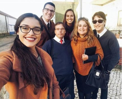 Sharing the good news in Portugal.