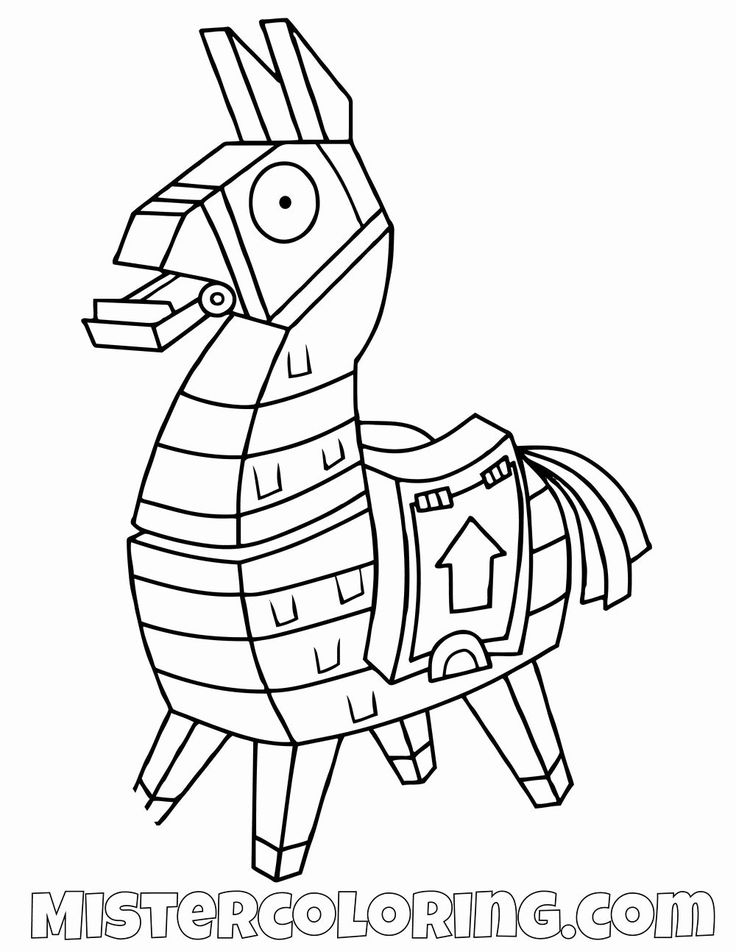 28 fortnite Llama Coloring Page in 2020 Toy story