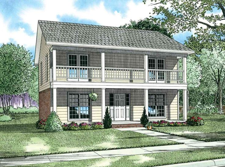 Duplex with Single-Family Appearance - 59368ND | Architectural Designs - House Plans