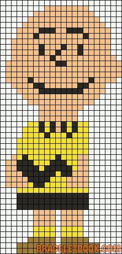 Charlie Brown Peanuts perler bead pattern